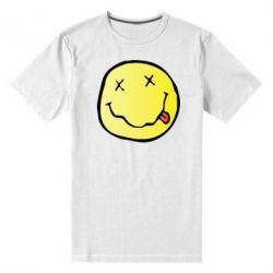 Мужская стрейчевая футболка Nirvana Logo 3D - FatLine