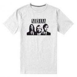 Мужская стрейчевая футболка Nirvana (Нирвана)