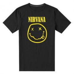 Мужская стрейчевая футболка Nirvana (Нирвана) - FatLine