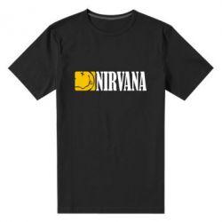 Мужская стрейчевая футболка Nirvana смайл - FatLine