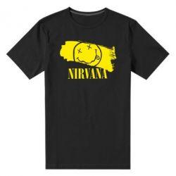 Мужская стрейчевая футболка Nirvana Smile - FatLine