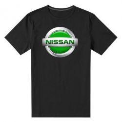 Мужская стрейчевая футболка Nissan Green - FatLine