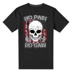 Мужская стрейчевая футболка No pain-no gain skull - FatLine