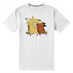 Мужская стрейчевая футболка Норберт и Деггет - FatLine