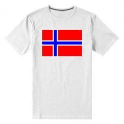 Мужская стрейчевая футболка Норвегия - FatLine