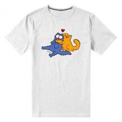 Купить Мужская стрейчевая футболка Обнимашки цветные, FatLine