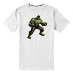 Мужская стрейчевая футболка Очень злой Халк - FatLine