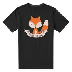 Мужская стрейчевая футболка Of for fox sake - FatLine