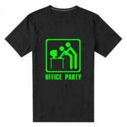 Мужская стрейчевая футболка Office Party - FatLine