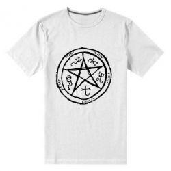 Мужская стрейчевая футболка Оккультный символ Сверхъестественное - FatLine