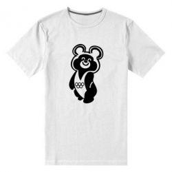 Мужская стрейчевая футболка Олимпийский Мишка - FatLine