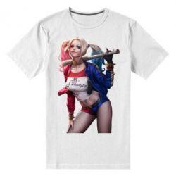 Мужская стрейчевая футболка Опасная Харли Квинн - FatLine