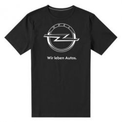 Мужская стрейчевая футболка Opel Wir leben Autos