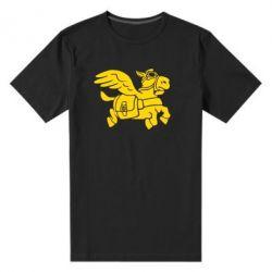 Мужская стрейчевая футболка Осел-курьер (Dota 2) - FatLine