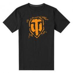 Мужская стрейчевая футболка Отпечаток гусениц WOT - FatLine