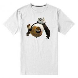 Мужская стрейчевая футболка Падающая Панда - FatLine