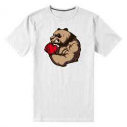 Мужская стрейчевая футболка Panda Boxing - FatLine