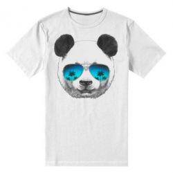 Мужская стрейчевая футболка Панда в очках - FatLine
