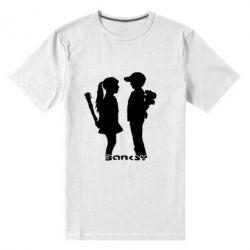 Мужская стрейчевая футболка Пара Bancsy - FatLine