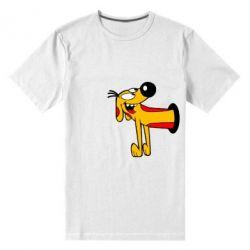 Мужская стрейчевая футболка Пес - FatLine
