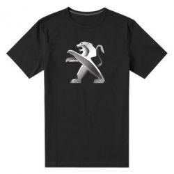 Чоловіча стрейчева футболка Peugeot Logo