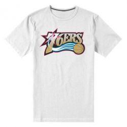 Мужская стрейчевая футболка Philadelpia 76ers - FatLine