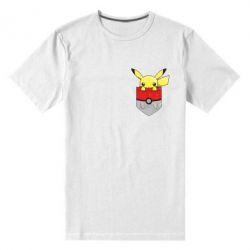 Мужская стрейчевая футболка Pikachu in pocket - FatLine