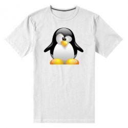 Мужская стрейчевая футболка Пингвинчик - FatLine