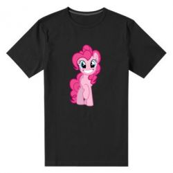 Чоловіча стрейчова футболка Pinkie Pie smile - FatLine