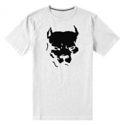 Мужская стрейчевая футболка Питбуль - FatLine