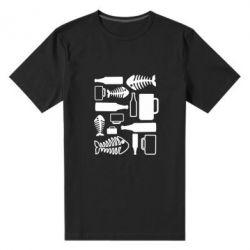 Мужская стрейчевая футболка Пиво и рыбка - FatLine