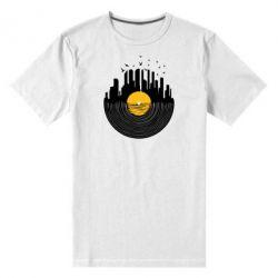 Мужская стрейчевая футболка Пластинка - FatLine
