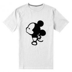 Мужская стрейчевая футболка Поцелуй мышек (м)