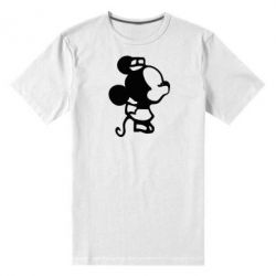 Мужская стрейчевая футболка Поцелуй мышек (ж)