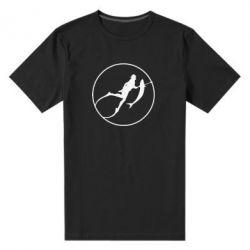 Мужская стрейчевая футболка Подводная охота - FatLine