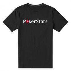 Мужская стрейчевая футболка Покер Старс