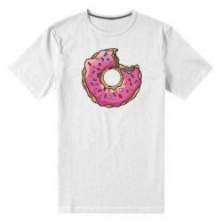 Мужская стрейчевая футболка Пончик - FatLine