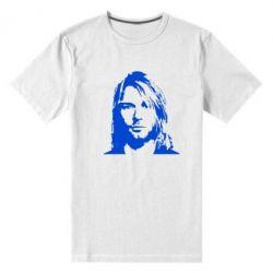 Мужская стрейчевая футболка Портрет Курта Кобейна - FatLine