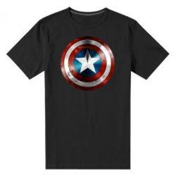 Мужская стрейчевая футболка Потертый щит - FatLine
