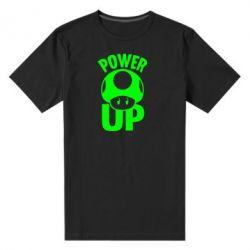 Мужская стрейчевая футболка Power Up гриб Марио - FatLine