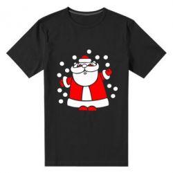 Мужская стрейчевая футболка Прикольный дед мороз - FatLine