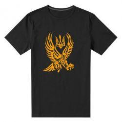 Мужская стрейчевая футболка Птах та герб - FatLine