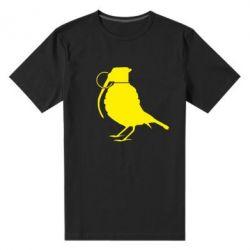 Мужская стрейчевая футболка Птичка с гранатой - FatLine