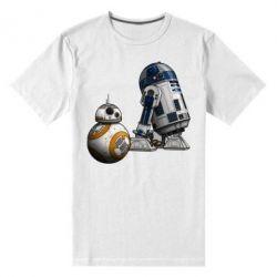 Мужская стрейчевая футболка R2D2 & BB-8 - FatLine