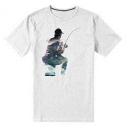 Мужская стрейчевая футболка Рабак на колене - FatLine