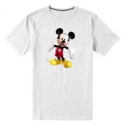 Мужская стрейчевая футболка Радостный Микки Маус - FatLine