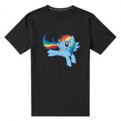 Чоловіча стрейчова футболка Rainbow Dash run - FatLine