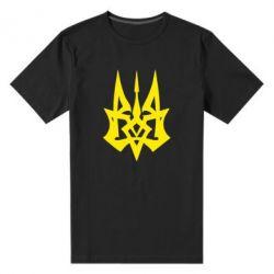 Мужская стрейчевая футболка Революційний Герб - FatLine
