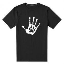 Мужская стрейчевая футболка Рука волка - FatLine