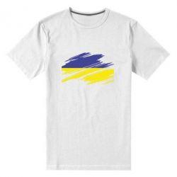 Мужская стрейчевая футболка Рваний прапор - FatLine